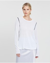 Joseph - Round Neck LS Light Cotton Knit