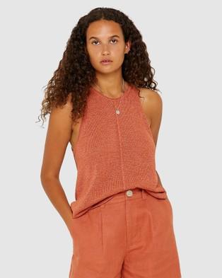Jag Coco Knit Tank - T-Shirts & Singlets (pink)