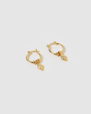 Arms Of Eve Beau Gold Charm Earrings Jewellery Gold