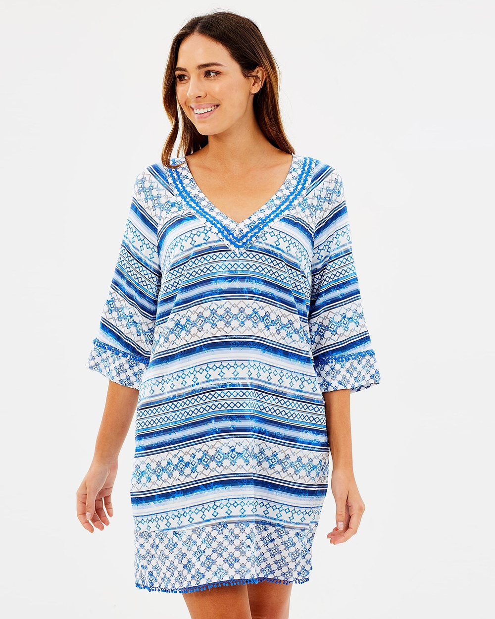JETS Kaftan Swimwear French Blue Kaftan