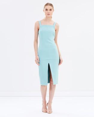 BY JOHNNY. – Aqua Slice Dress THE ICONIC Exclusive – Bodycon Dresses (Aqua)