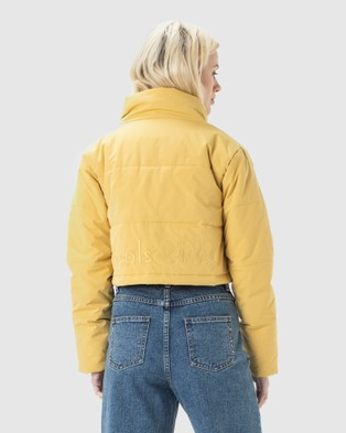 Cools Club Cropped Puff Club Jacket - Coats & Jackets (Yellow)