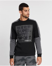 Superdry Sport - Gym Tech Colour Block Crew Sweatshirt