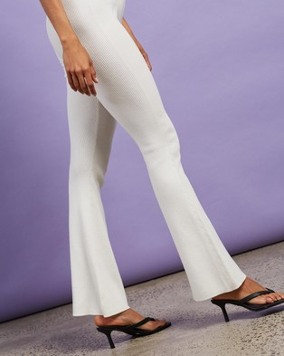 Dazie Sunday Feels Knitted Pants - Pants (Cream)
