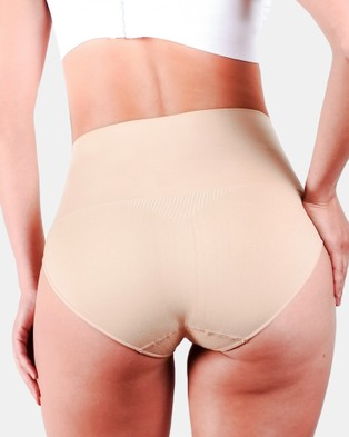 B Free Intimate Apparel 2 Pack Power Shaping Briefs - Briefs (Nude)