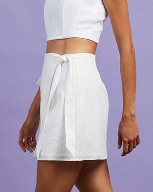 Dazie The Naturalist Linen Skirt - Skirts (White)