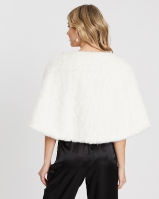 Unreal Fur Cuddles Wrap - Coats & Jackets (Ivory)