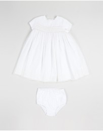 Smocked Woven Tulle Dress - Babies
