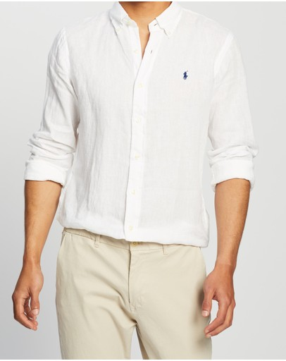 Polo Ralph Lauren - Custom Fit Long Sleeve Linen Sport Shirt