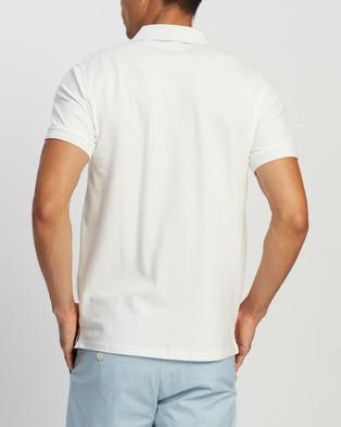 Gant Contrast Collar Pique SS Rugger Polo - Shirts & Polos (Eggshell)