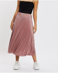 Missguided - A-Line Plisse Midi Skirt