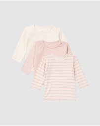Boody Organic Bamboo Eco Wear - 3-Pack Baby Long Sleeve Tops