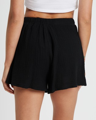 The Fated Luna Shorts - High-Waisted (Black)