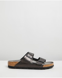 Birkenstock - Arizona Suede Washed Metallic Antique Regular - Women's