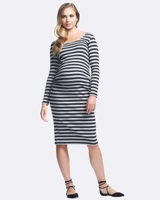 Soon Maternity – Krish Long Sleeve Maternity Dress