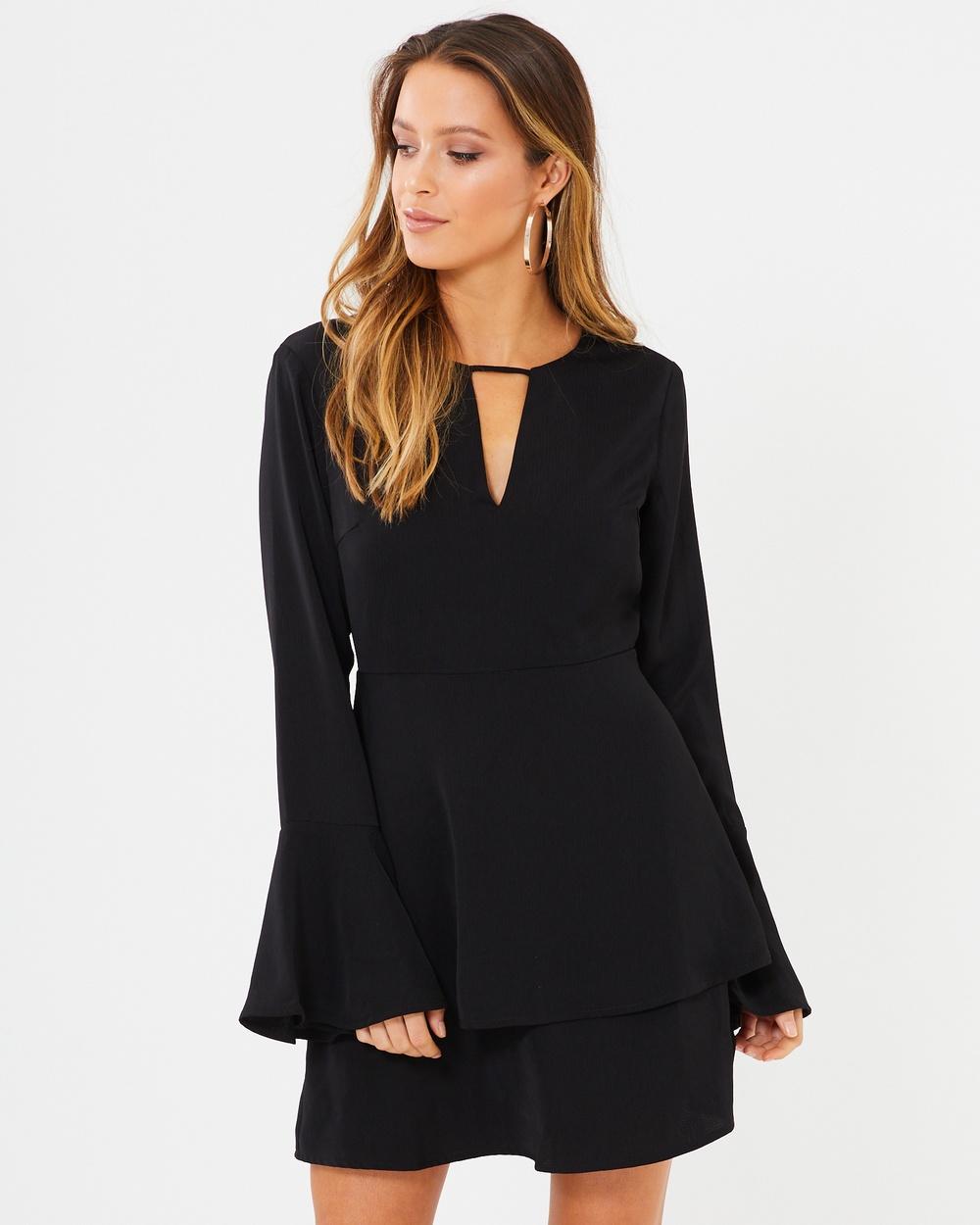 Calli Vienna Double layered Dress Dresses Black Vienna Double layered Dress