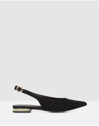 Forever New - Dakota Metal Trim Pointed Flats