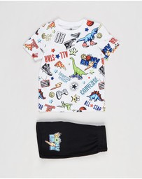 Converse - Printed T-Shirt & Shorts Set - Kids