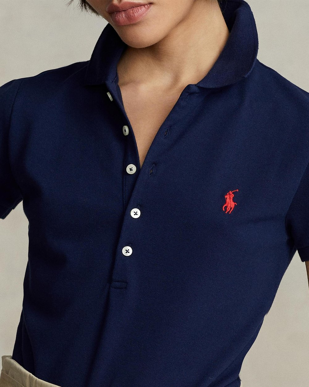 Skinny Fit Stretch Mesh Polo by Polo Ralph Lauren Online   THE ICONIC    Australia a9096da4f7eb