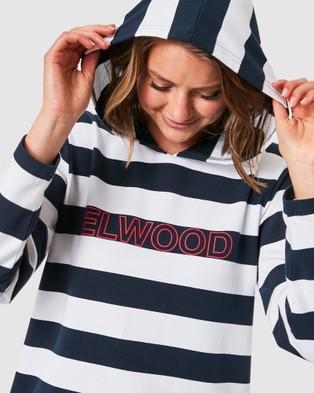 Elwood Bella Hoody - Hoodies (Navy/White Stripe)