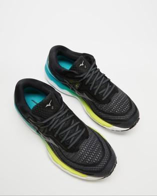 Mizuno Wave Sky 4   Women's - Performance Shoes (Phantom & Scuba Blue)