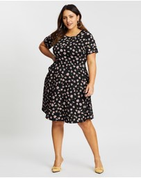 DP Curve - Daisy Print T-Shirt Dress