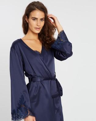 Homebodii Olivia Robe - Sleepwear (Navy)
