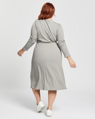 Atmos&Here Curvy Billie Midi Dress - Dresses (Grey)