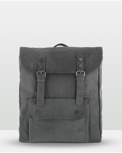 Cobb & Co Wentworth Soft Leather Backpack Charcoal