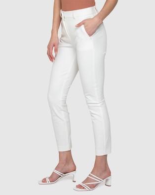 Forever New Sierra Slim Leg Pants - Pants (Porcelain)