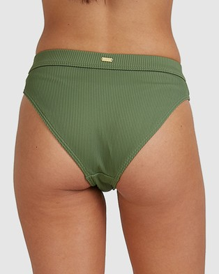 Roxy Womens Mind Of Freedom High Waist Separate Bikini Pant - Bikini Bottoms (VINEYARD GREEN)