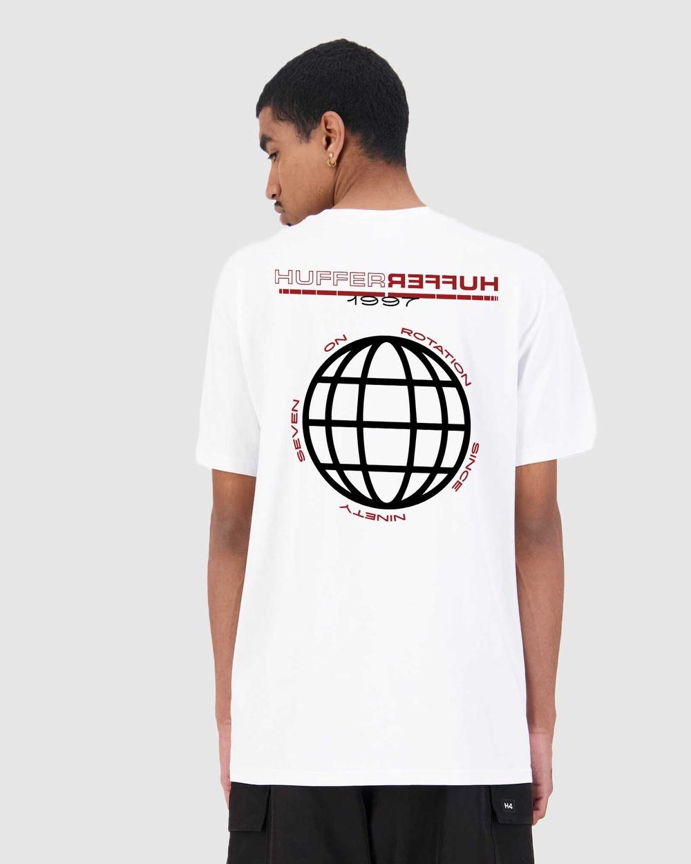 Huffer Men's Sup Tee Repeat T-Shirts & Singlets White Tee-Repeat Australia