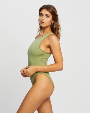 IT'S NOW COOL The Bodysuit - One-Piece / Swimsuit (Olive)
