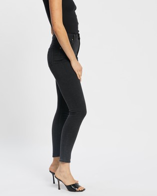 Abrand A High Skinny Ankle Basher Jeans - High-Waisted (Graphite)