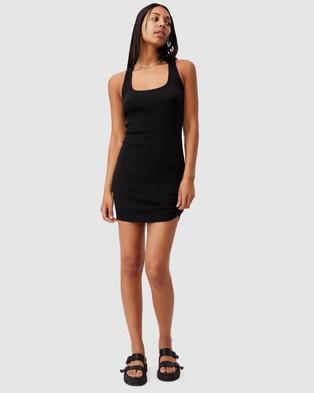 Cotton On Tyra Cross Back Mini Dress - Bodycon Dresses (Black)