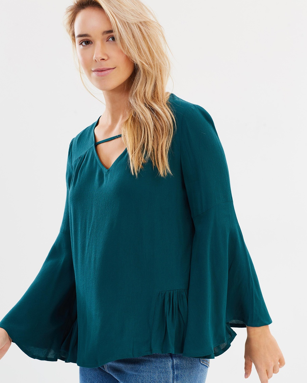Sass True Love Bell Blouse Tops Jade True Love Bell Blouse