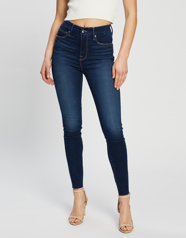 Good American - Good Waist Raw Edge Jeans