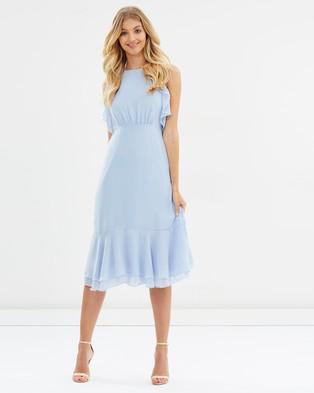 Atmos & Here – Illa Ruffle Midi Dress – Bridesmaid Dresses Blue