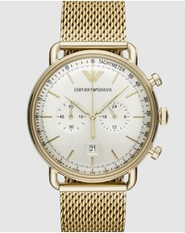 Emporio Armani - Gold-Tone Chronograph Watch AR11315