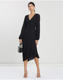 Cooper St - Reign V-Neck Long Sleeve Asymmetric Dress