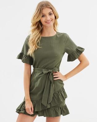 Atmos & Here – Harper Ruffle Dress Khaki