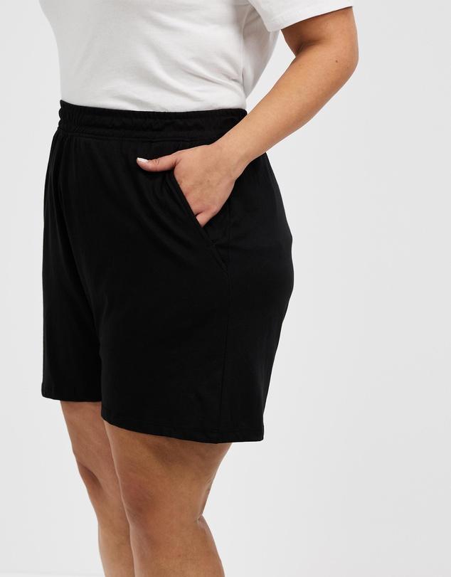 Women Curve Courtside Jersey Shorts
