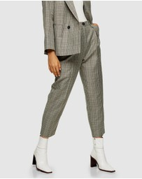 TOPSHOP - Check Ovoid Peg Trousers