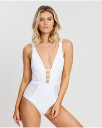 JETS - Parallels Plunge One-Piece
