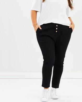 17 Sundays Search & Destroy Drop Crotch Jeans High-Waisted Black