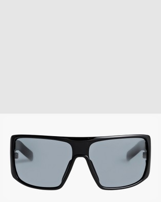 Quiksilver Boys 8 16 Lil Mack Sunglasses - Sunglasses (MATTE BLACK/ GREY)