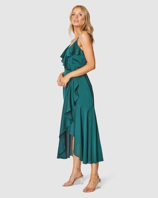 Pilgrim Adana Midi Dress - Bridesmaid Dresses (Emerald)