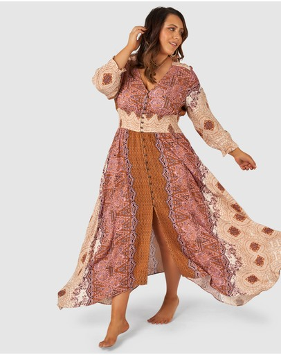 The Poetic Gypsy - Brown Sugar Maxi Dress