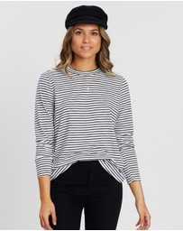 Atmos&Here - Stripe Long Sleeve Tee