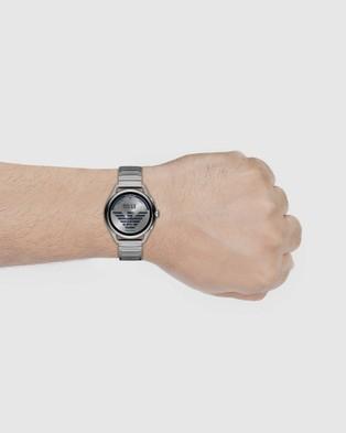 Emporio Armani Silver Tone Smartwatch - Smart Watches (Silver-Tone)